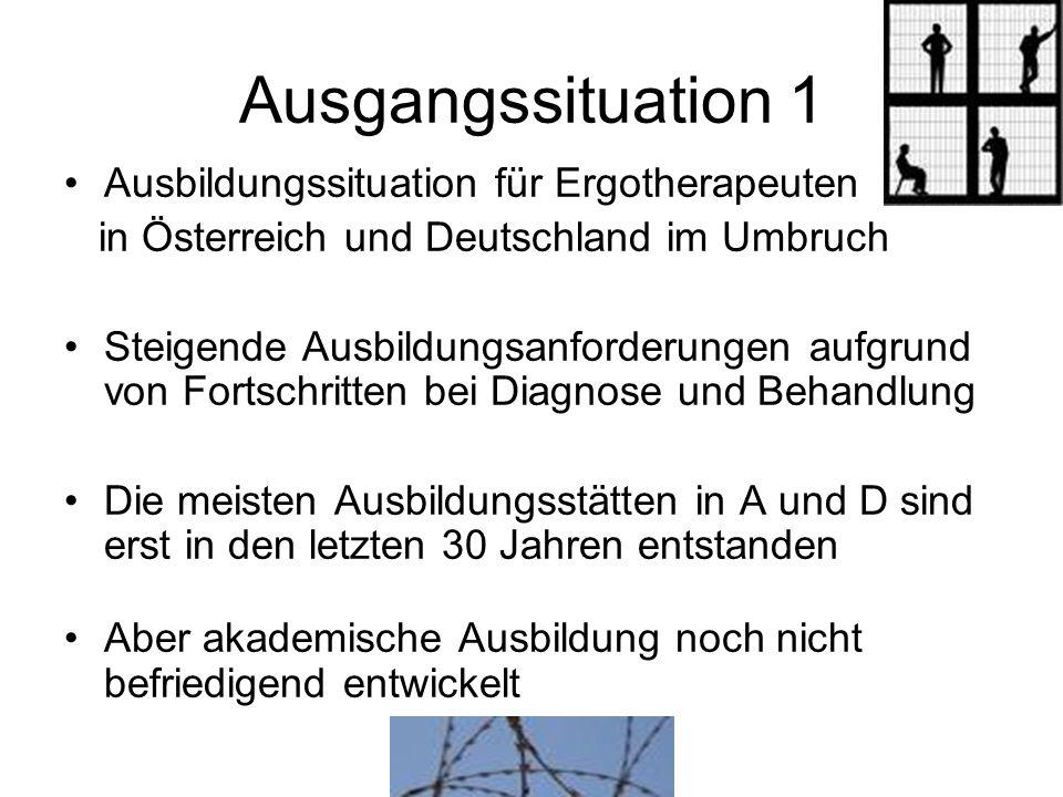 Ausgangssituation 1 Ausbildungssituation für Ergotherapeuten