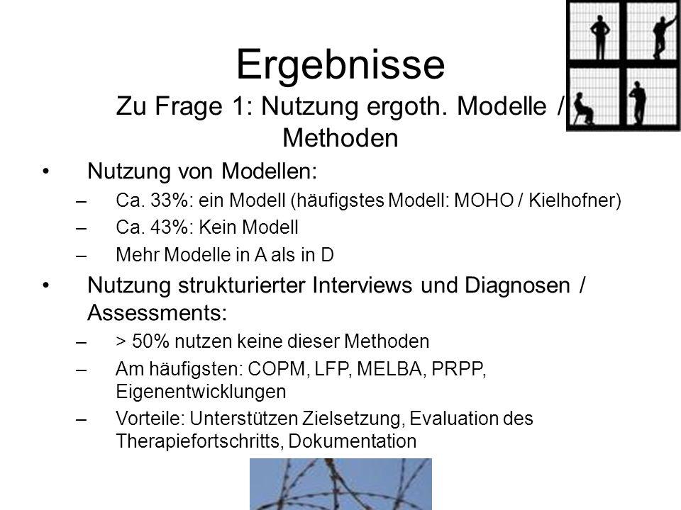 Zu Frage 1: Nutzung ergoth. Modelle /