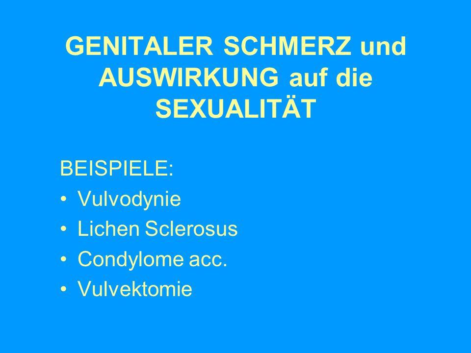 GENITALER SCHMERZ und AUSWIRKUNG auf die SEXUALITÄT