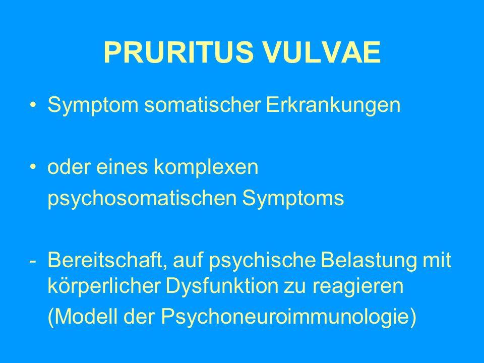 PRURITUS VULVAE Symptom somatischer Erkrankungen oder eines komplexen