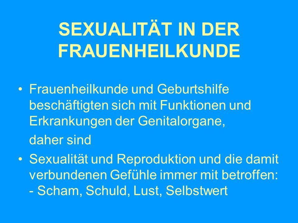 SEXUALITÄT IN DER FRAUENHEILKUNDE