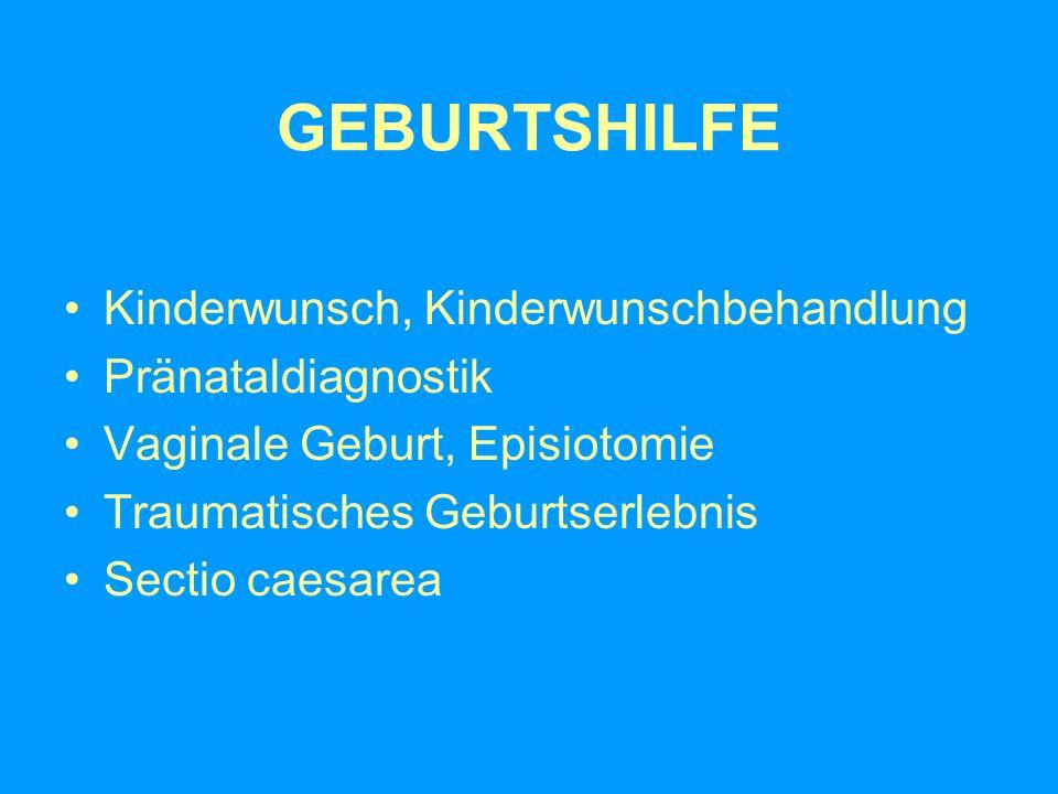 GEBURTSHILFE Kinderwunsch, Kinderwunschbehandlung Pränataldiagnostik