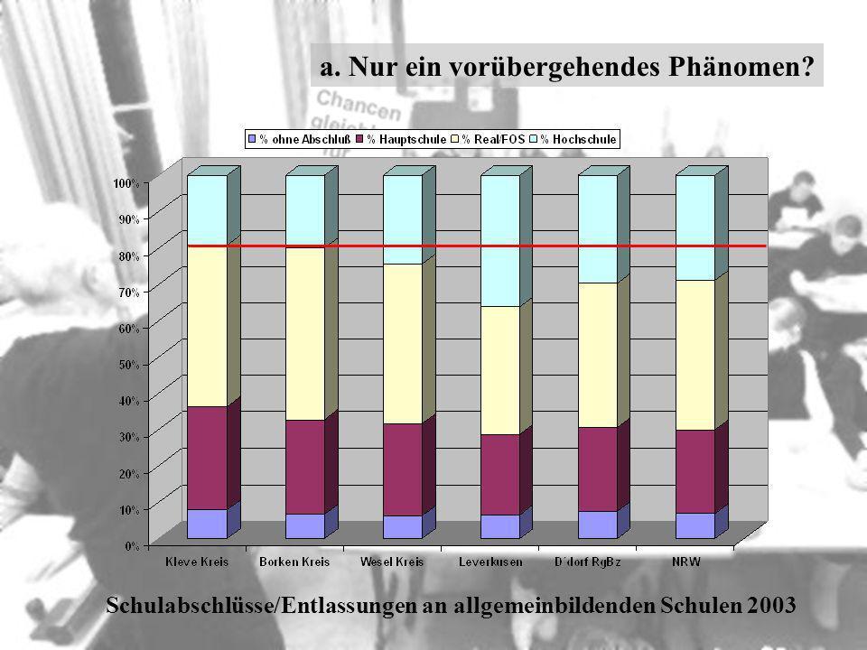 Schulabschlüsse/Entlassungen an allgemeinbildenden Schulen 2003