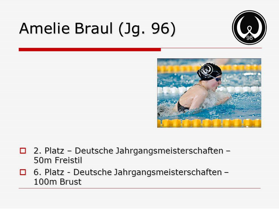 Amelie Braul (Jg. 96) 2. Platz – Deutsche Jahrgangsmeisterschaften – 50m Freistil.