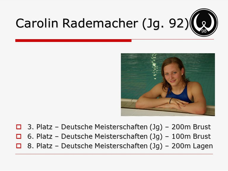 Carolin Rademacher (Jg. 92)