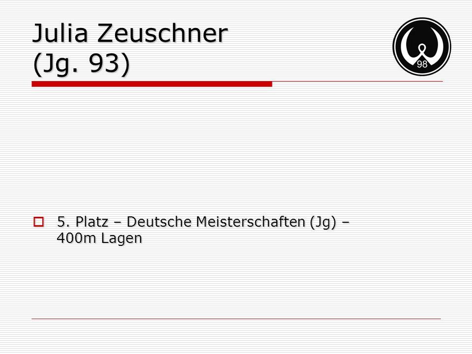 Julia Zeuschner (Jg. 93) 5. Platz – Deutsche Meisterschaften (Jg) – 400m Lagen