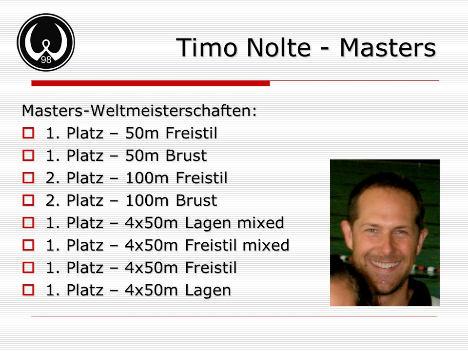 Timo Nolte - Masters Masters-Weltmeisterschaften: