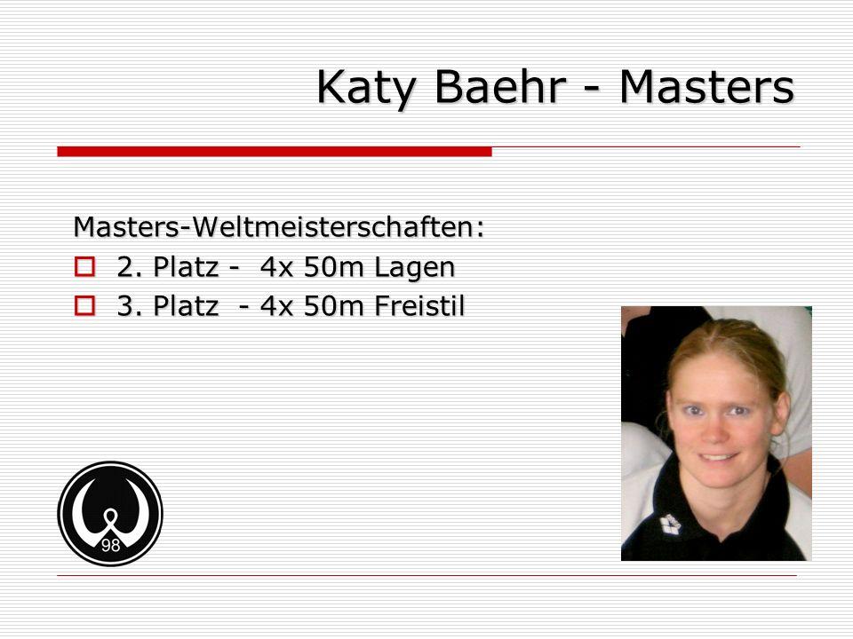 Katy Baehr - Masters Masters-Weltmeisterschaften: