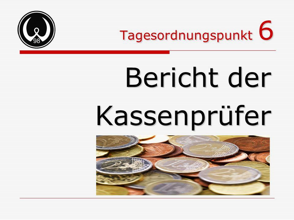 Bericht der Kassenprüfer