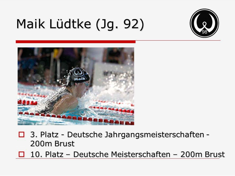 Maik Lüdtke (Jg. 92) 3. Platz - Deutsche Jahrgangsmeisterschaften - 200m Brust.