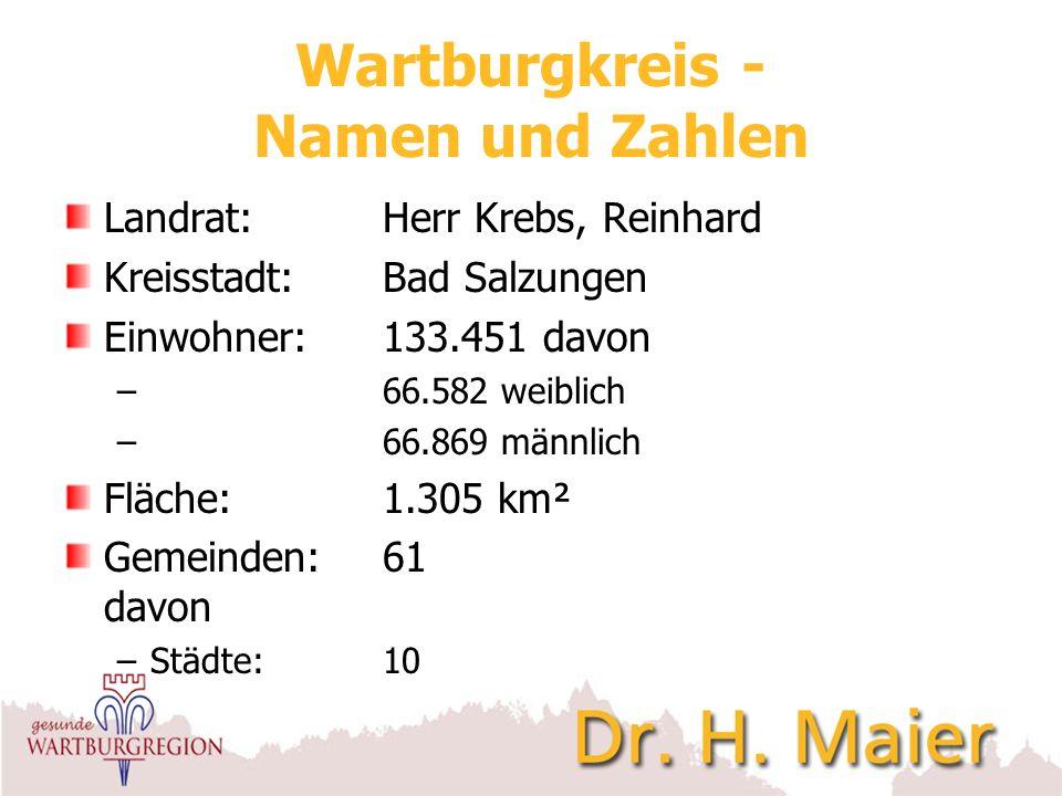 Wartburgkreis - Namen und Zahlen