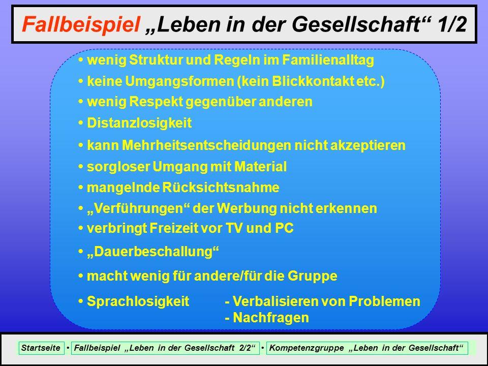 """Fallbeispiel """"Leben in der Gesellschaft 1/2"""