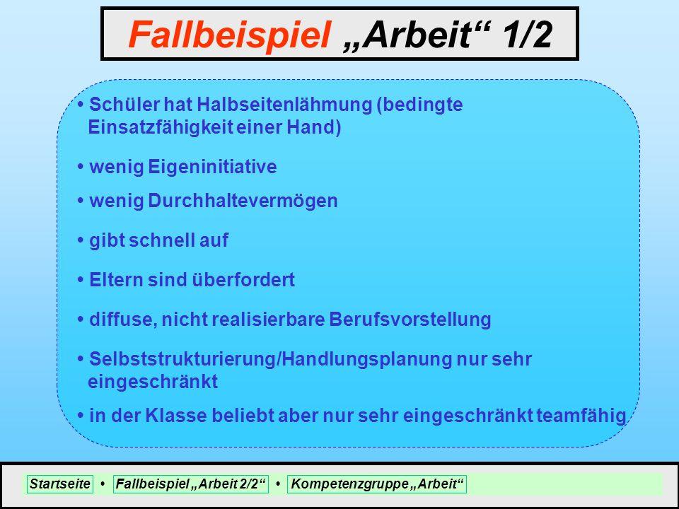 """Fallbeispiel """"Arbeit 1/2"""