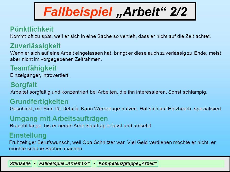 """Fallbeispiel """"Arbeit 2/2"""