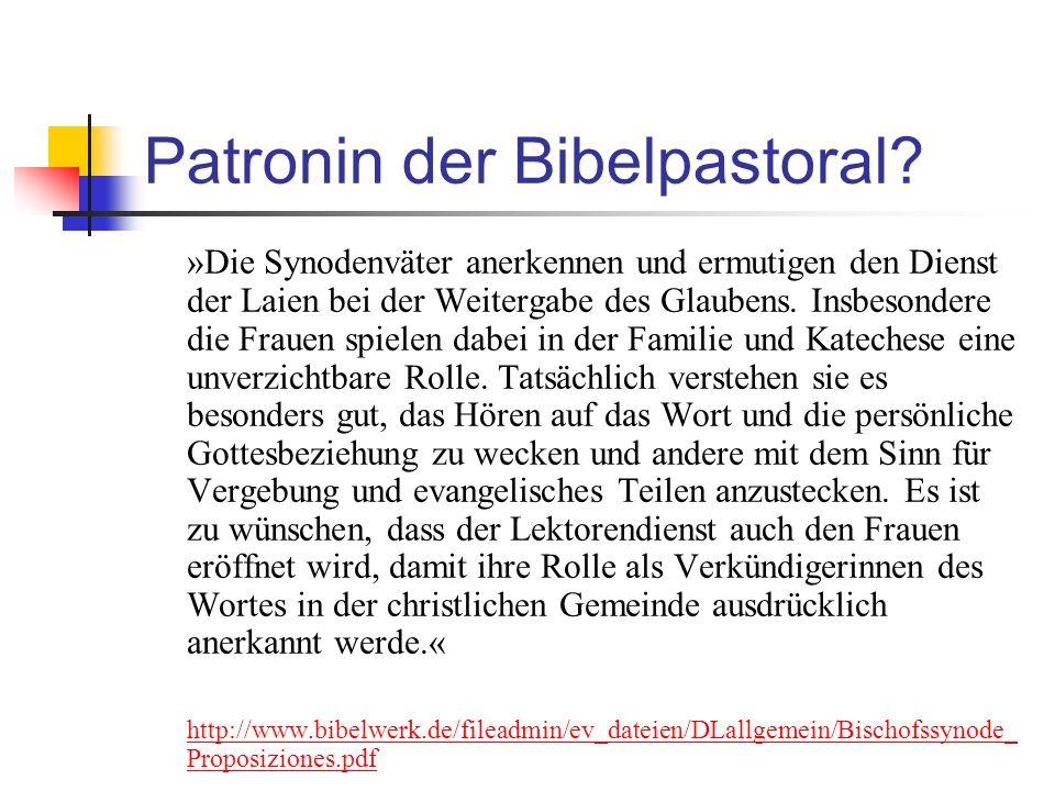 Patronin der Bibelpastoral