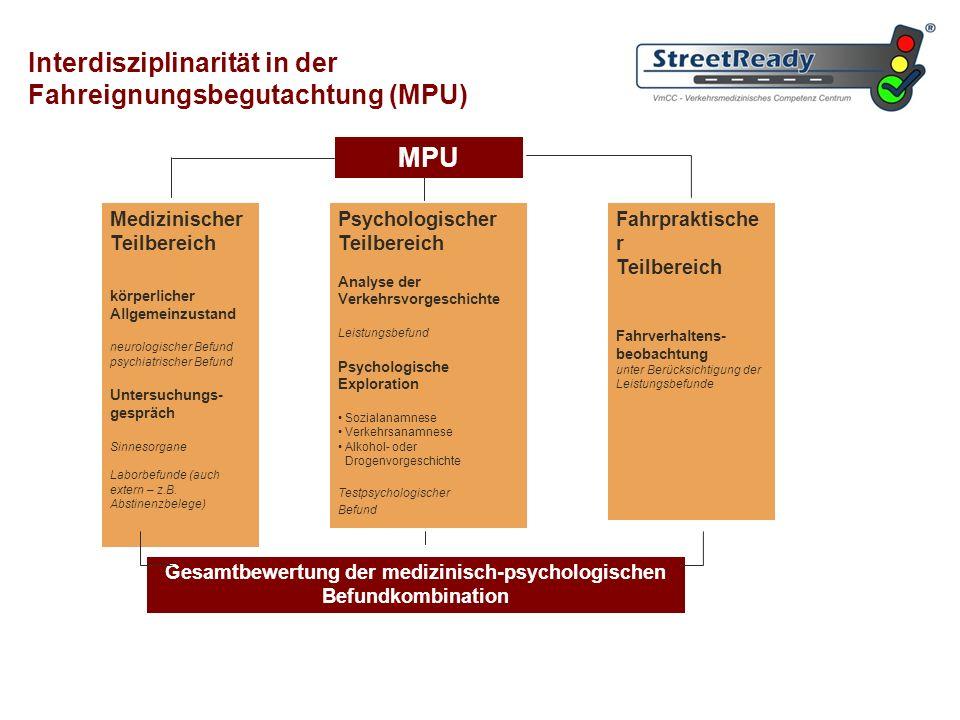 Gesamtbewertung der medizinisch-psychologischen Befundkombination