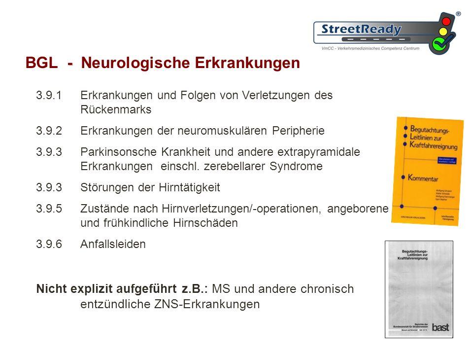 BGL - Neurologische Erkrankungen