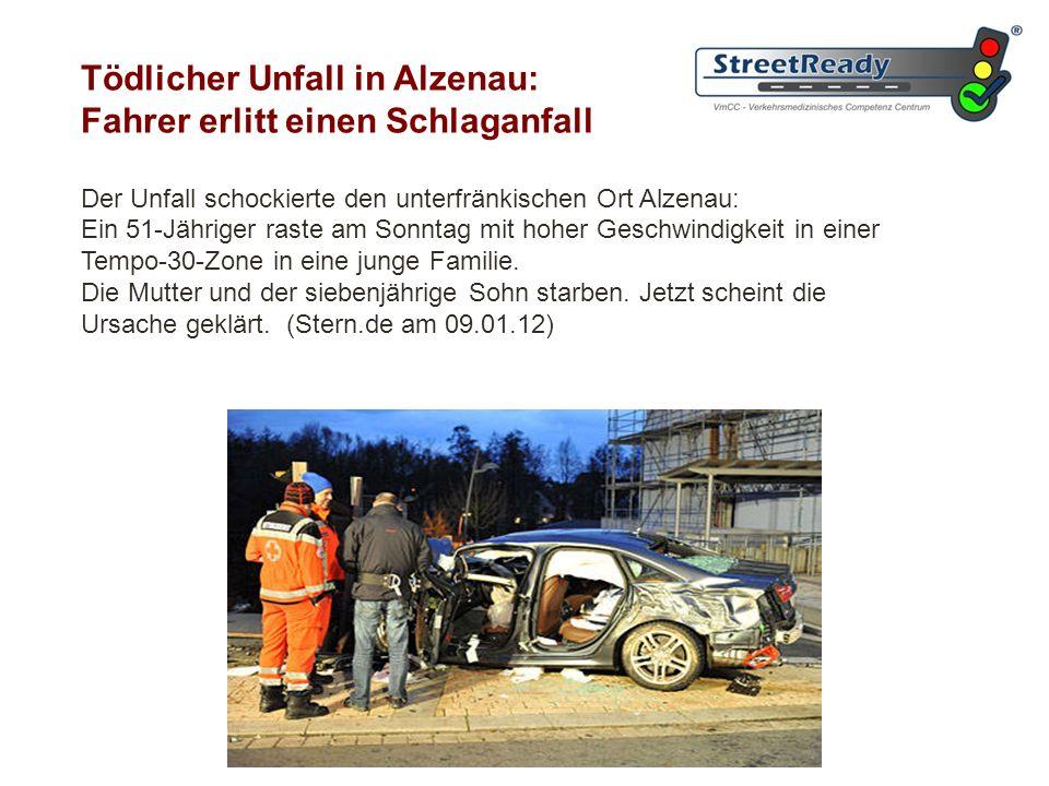 Tödlicher Unfall in Alzenau: Fahrer erlitt einen Schlaganfall