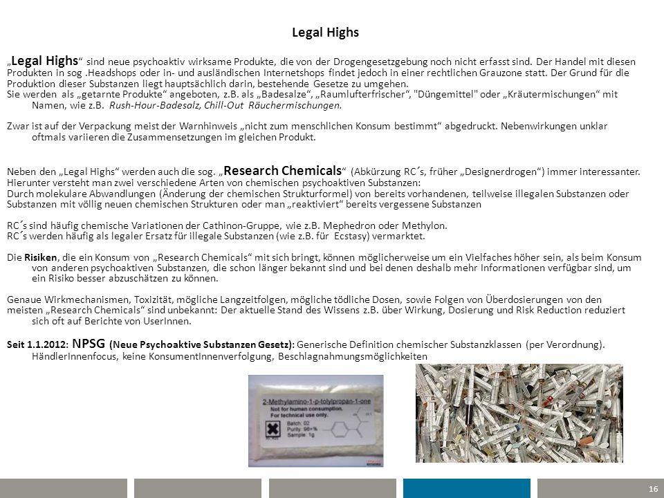 """Legal Highs """"Legal Highs sind neue psychoaktiv wirksame Produkte, die von der Drogengesetzgebung noch nicht erfasst sind. Der Handel mit diesen."""