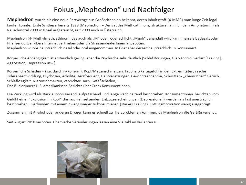 """Fokus """"Mephedron und Nachfolger"""