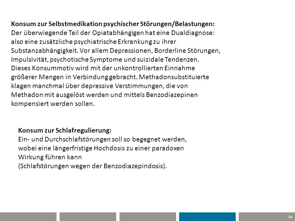 Konsum zur Selbstmedikation psychischer Störungen/Belastungen: