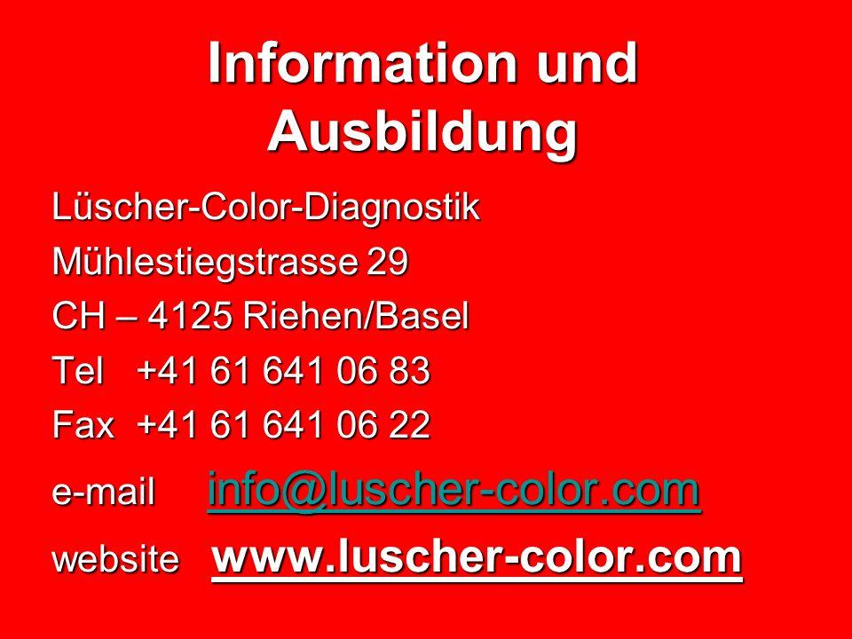 Information und Ausbildung
