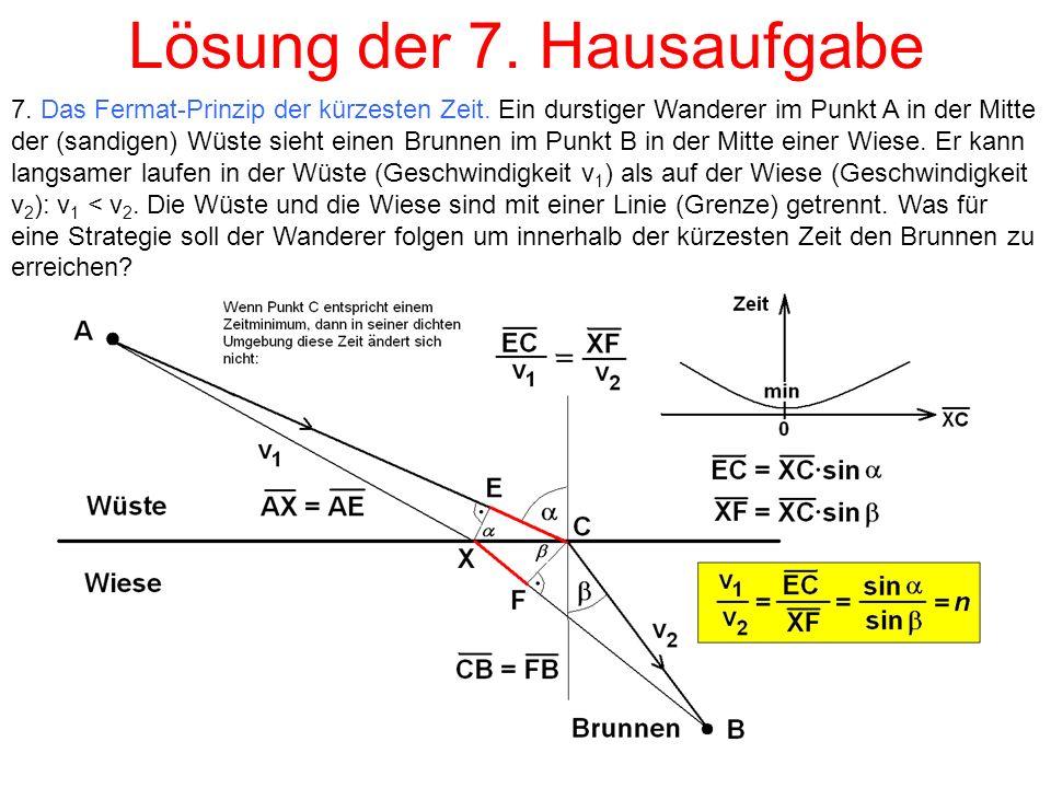 Lösung der 7. Hausaufgabe