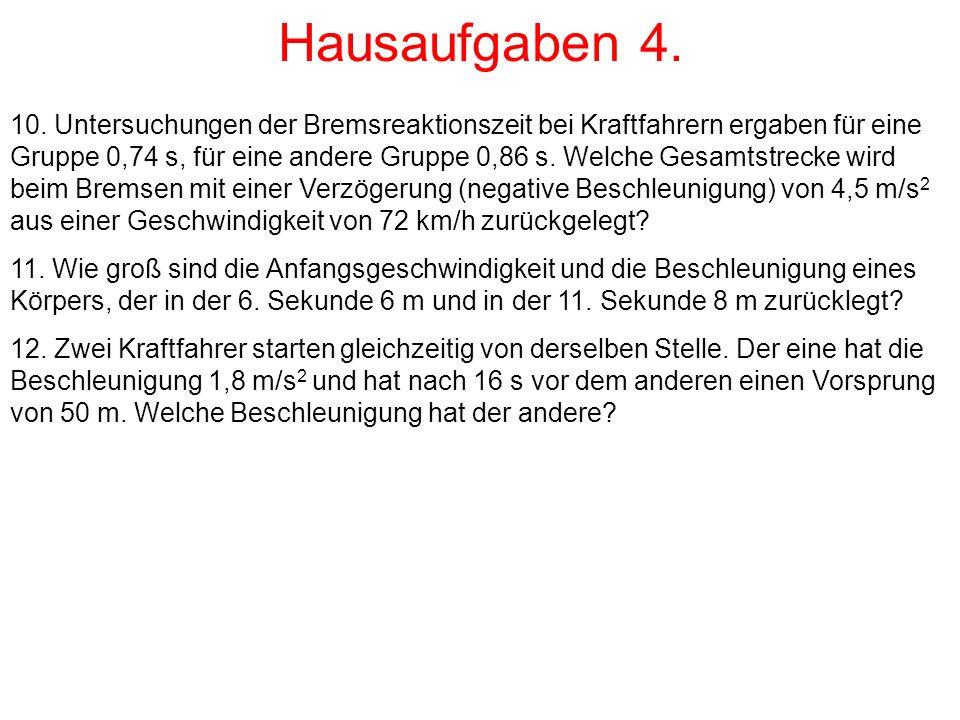 Hausaufgaben 4.