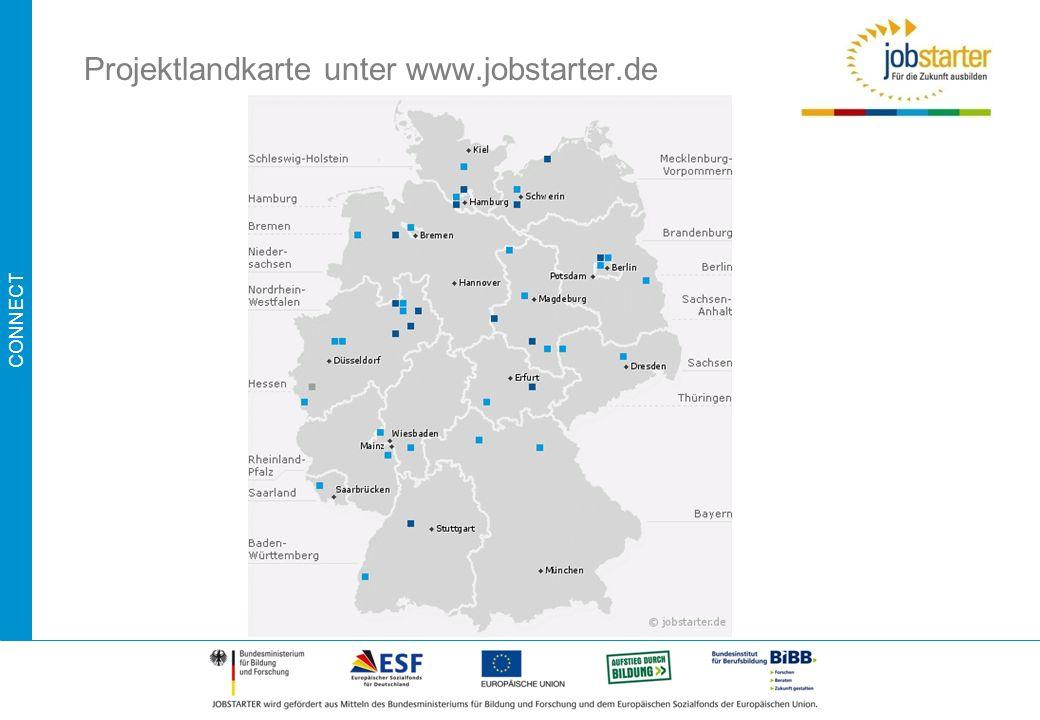 Projektlandkarte unter www.jobstarter.de