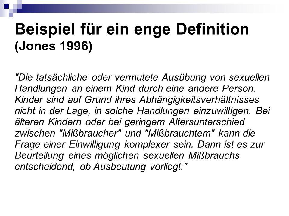 Beispiel für ein enge Definition (Jones 1996)