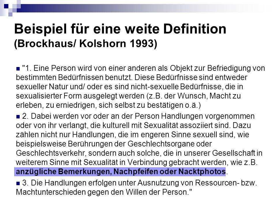 Beispiel für eine weite Definition (Brockhaus/ Kolshorn 1993)