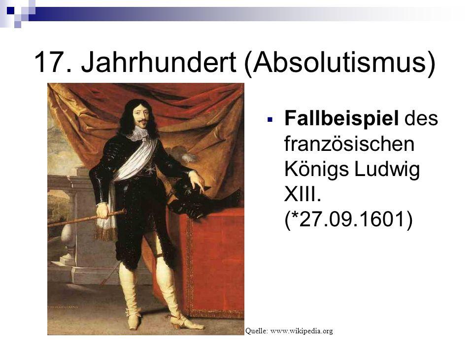 17. Jahrhundert (Absolutismus)