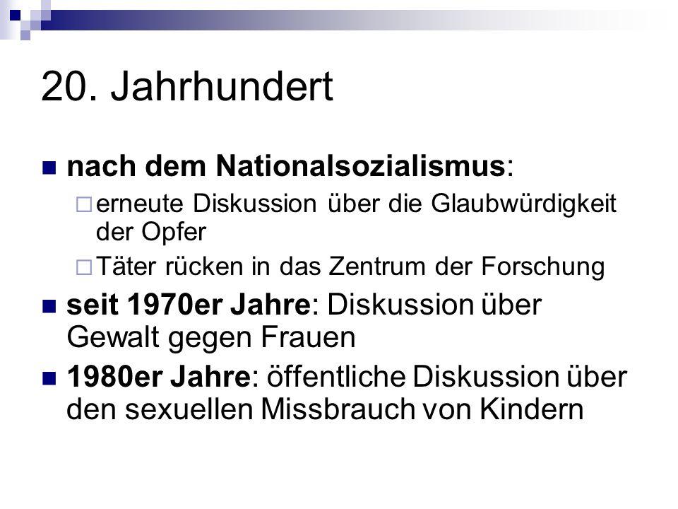 20. Jahrhundert nach dem Nationalsozialismus: