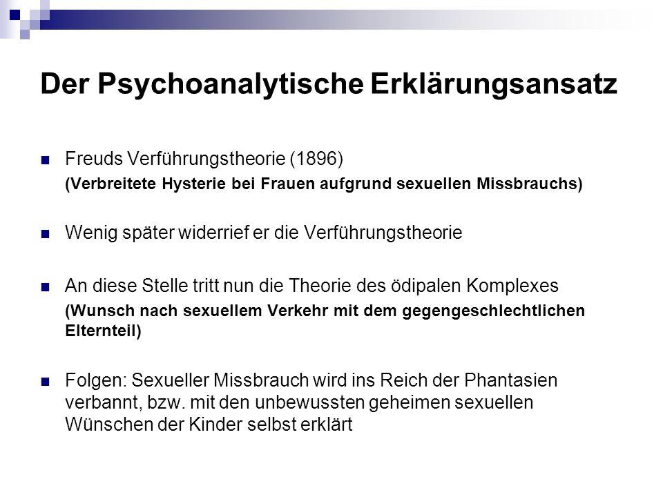 Der Psychoanalytische Erklärungsansatz