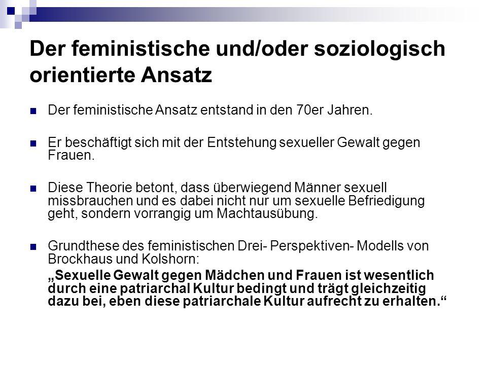Der feministische und/oder soziologisch orientierte Ansatz