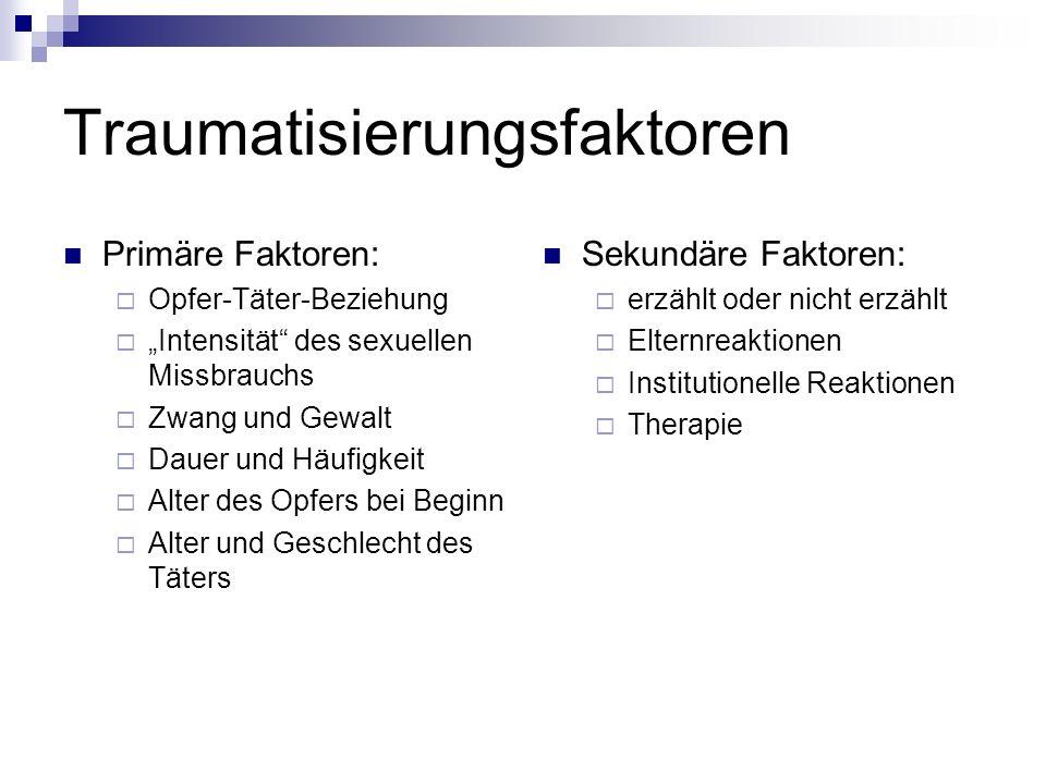 Traumatisierungsfaktoren