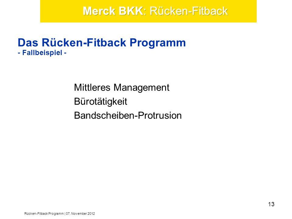 Das Rücken-Fitback Programm - Fallbeispiel -