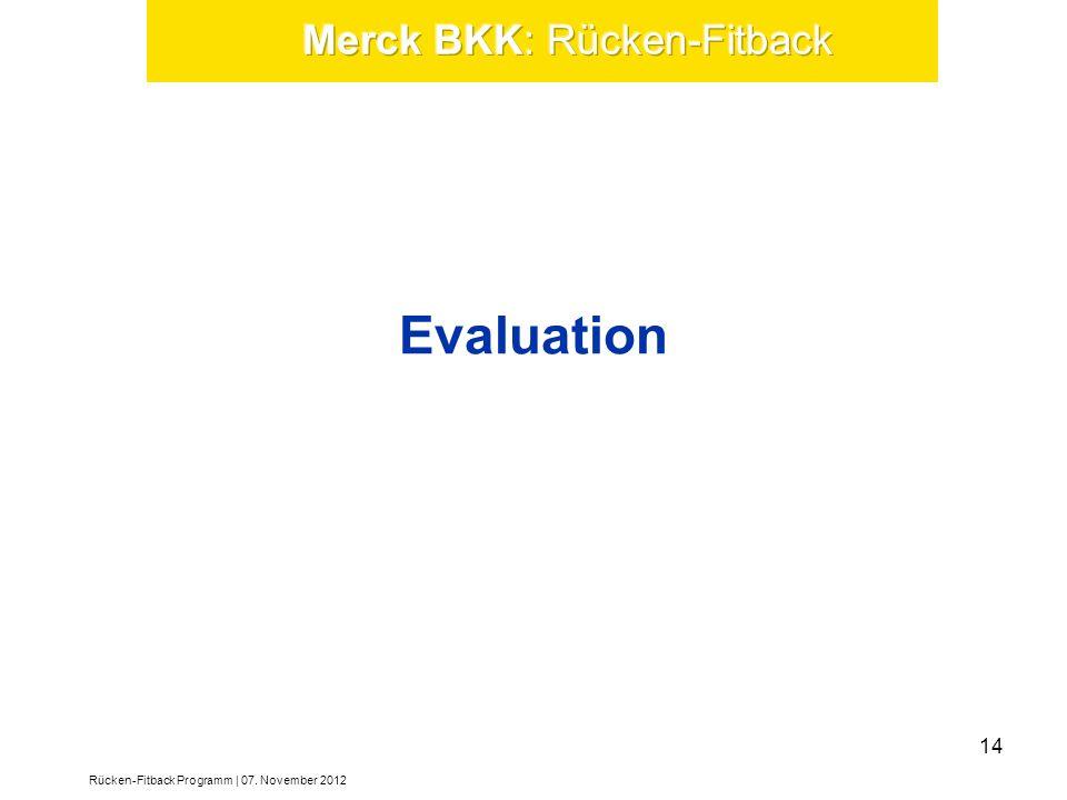 Merck BKK: Rücken-Fitback