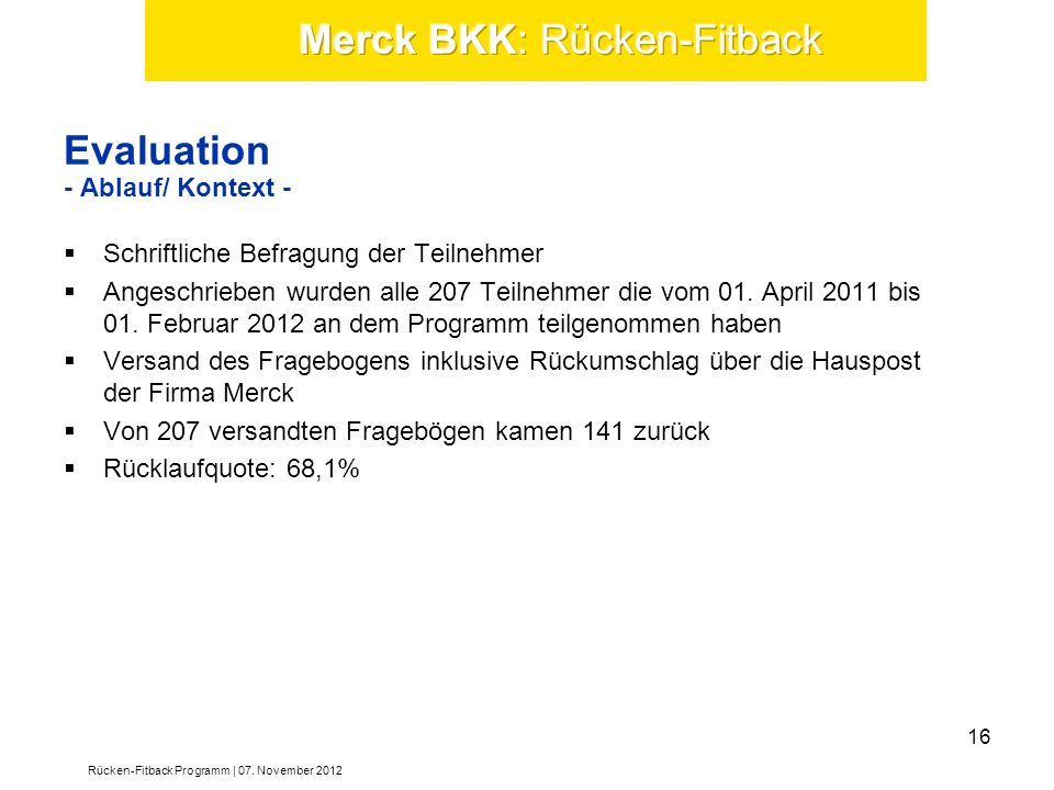 Evaluation - Ablauf/ Kontext -