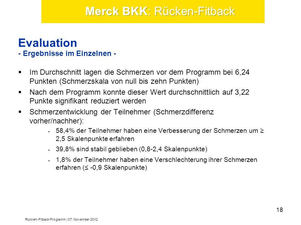 Evaluation - Ergebnisse im Einzelnen -