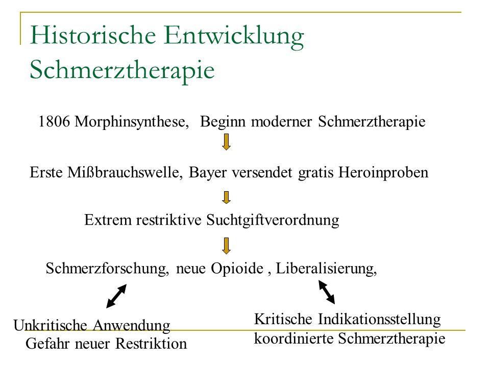 Historische Entwicklung Schmerztherapie
