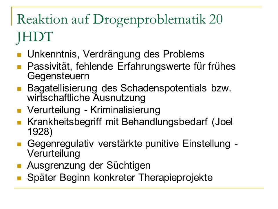 Reaktion auf Drogenproblematik 20 JHDT