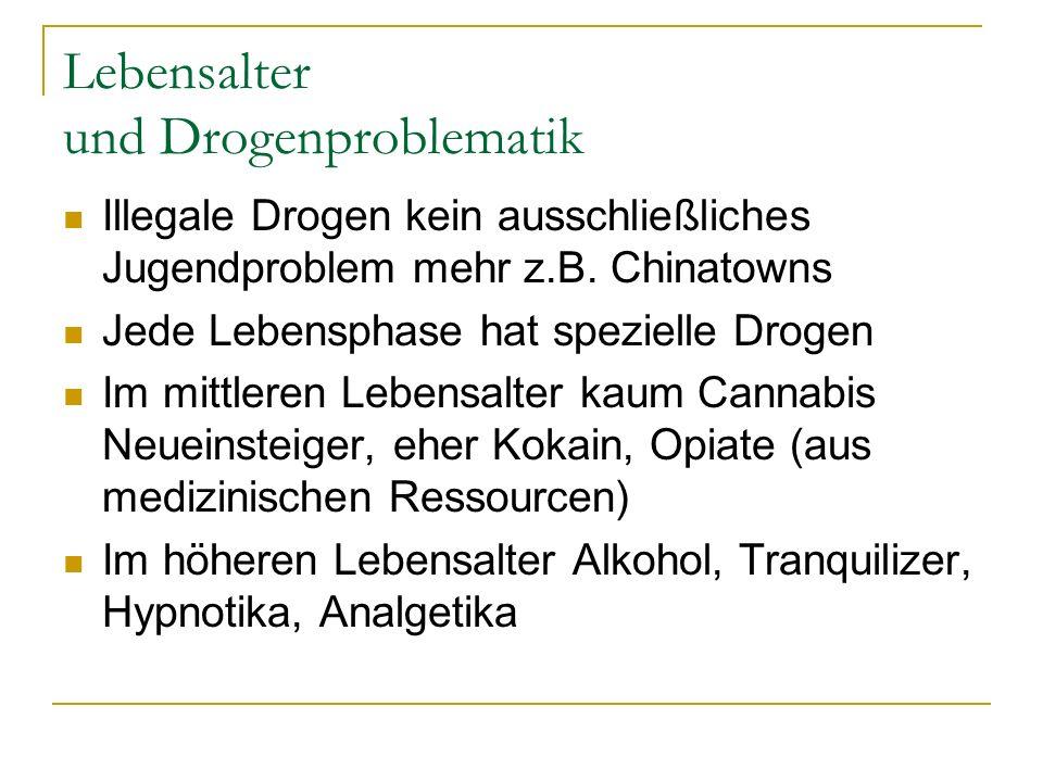 Lebensalter und Drogenproblematik