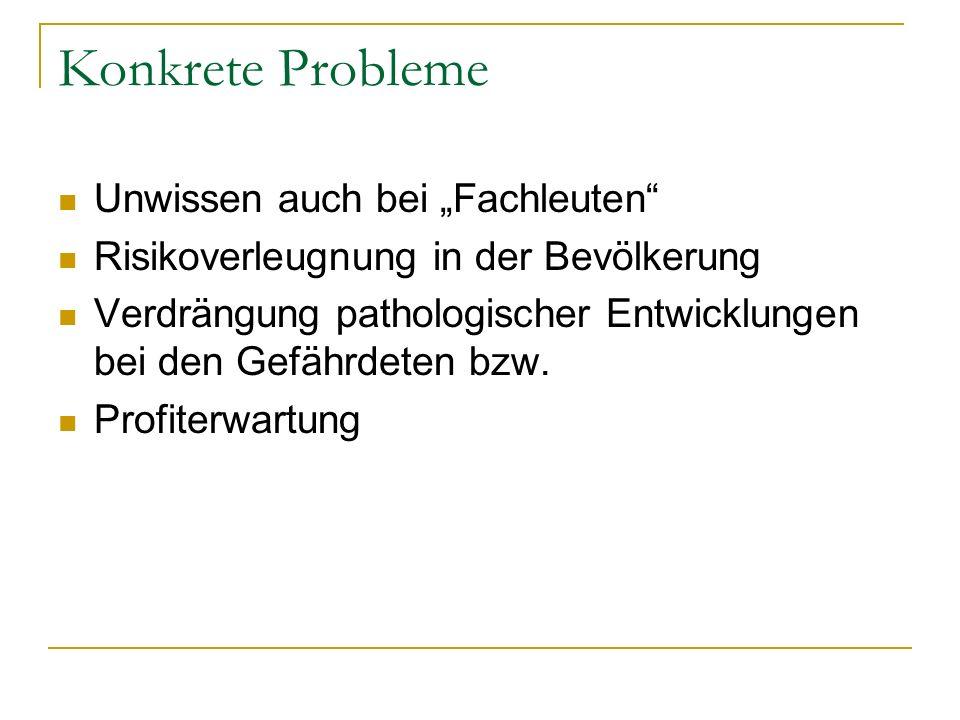 """Konkrete Probleme Unwissen auch bei """"Fachleuten"""