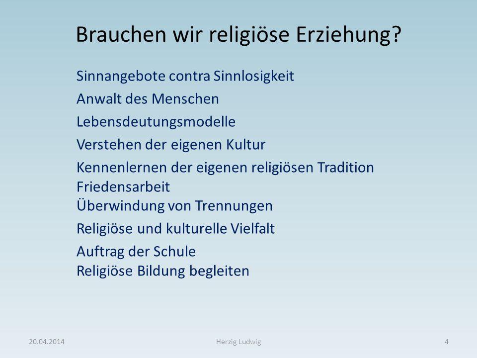 Brauchen wir religiöse Erziehung