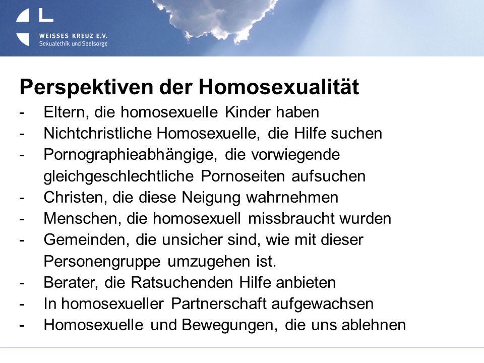Perspektiven der Homosexualität