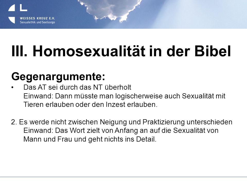 III. Homosexualität in der Bibel