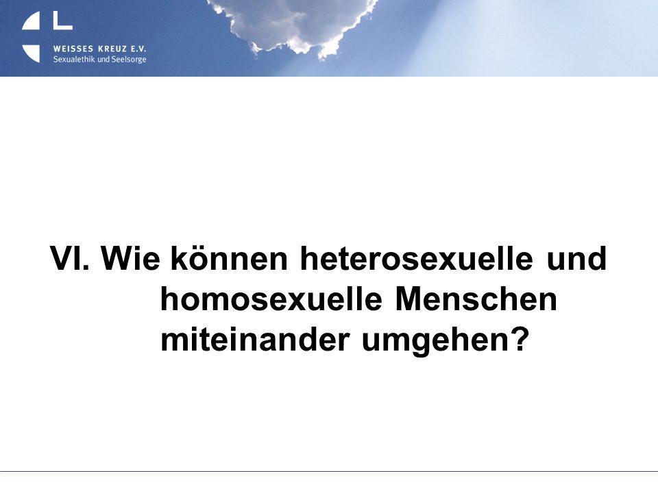 VI. Wie können heterosexuelle und homosexuelle Menschen miteinander umgehen