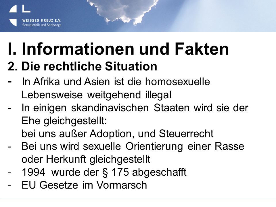 I. Informationen und Fakten