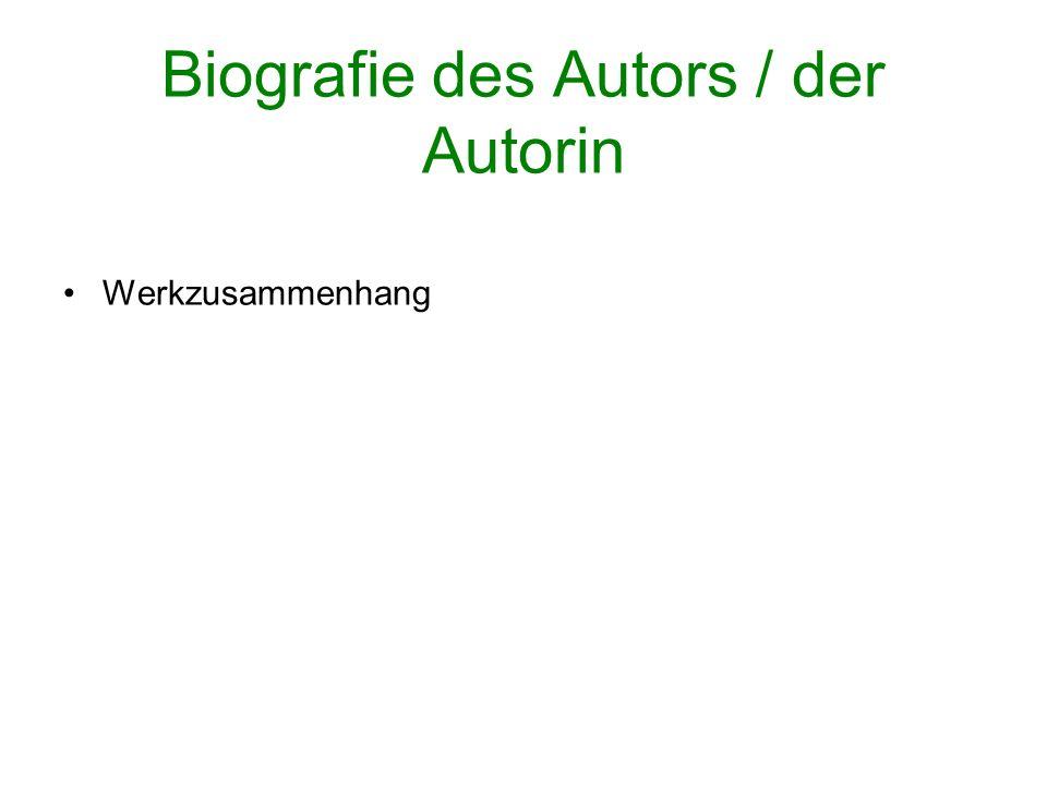 Biografie des Autors / der Autorin